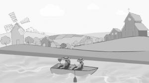 Schets storyboard Univé