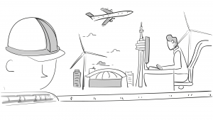 Schets storyboard Hezelburcht