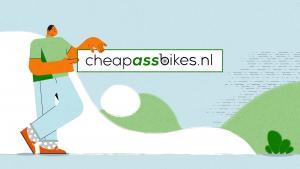 Uitgewerkte illustratie cheapassbikes.nl