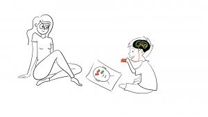 Schets uitgewerkt Brainblocks animatie